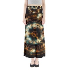Science Fiction Energy Background Maxi Skirts by Simbadda