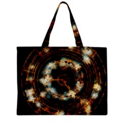 Science Fiction Energy Background Medium Zipper Tote Bag by Simbadda