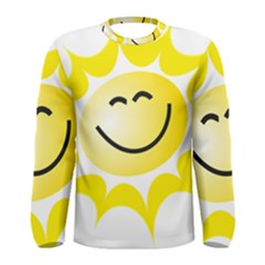 The Sun A Smile The Rays Yellow Men s Long Sleeve Tee