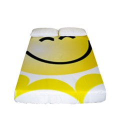 The Sun A Smile The Rays Yellow Fitted Sheet (full/ Double Size) by Simbadda