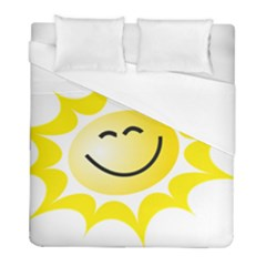 The Sun A Smile The Rays Yellow Duvet Cover (full/ Double Size) by Simbadda