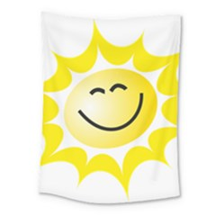 The Sun A Smile The Rays Yellow Medium Tapestry by Simbadda