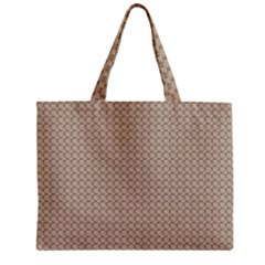 Pattern Ornament Brown Background Zipper Mini Tote Bag by Simbadda