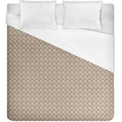 Pattern Ornament Brown Background Duvet Cover (king Size)