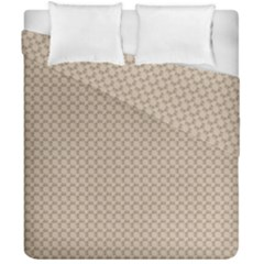 Pattern Ornament Brown Background Duvet Cover Double Side (california King Size) by Simbadda