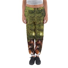 Red Deer Deer Roe Deer Antler Women s Jogger Sweatpants by Simbadda
