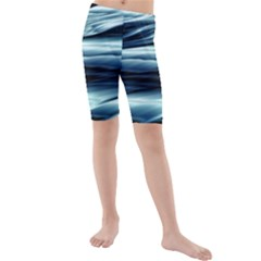 Texture Fractal Frax Hd Mathematics Kids  Mid Length Swim Shorts by Simbadda