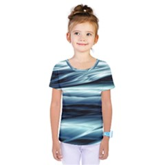 Texture Fractal Frax Hd Mathematics Kids  One Piece Tee by Simbadda
