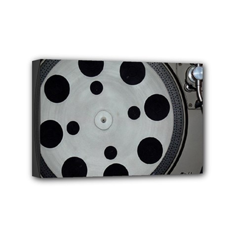 Turntable Record System Tones Mini Canvas 6  X 4  by Simbadda
