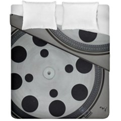 Turntable Record System Tones Duvet Cover Double Side (california King Size) by Simbadda