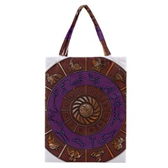 Zodiak Zodiac Sign Metallizer Art Classic Tote Bag by Simbadda