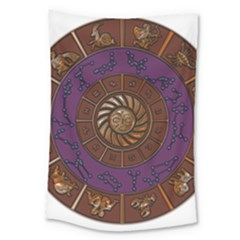 Zodiak Zodiac Sign Metallizer Art Large Tapestry by Simbadda