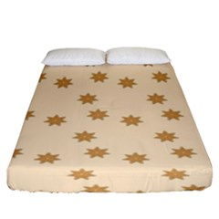 Pattern Gingerbread Star Fitted Sheet (king Size) by Simbadda