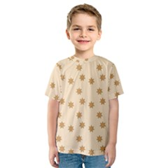Pattern Gingerbread Star Kids  Sport Mesh Tee