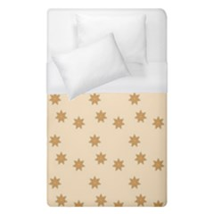Pattern Gingerbread Star Duvet Cover (single Size) by Simbadda