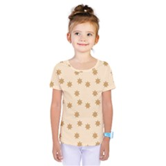 Pattern Gingerbread Star Kids  One Piece Tee by Simbadda