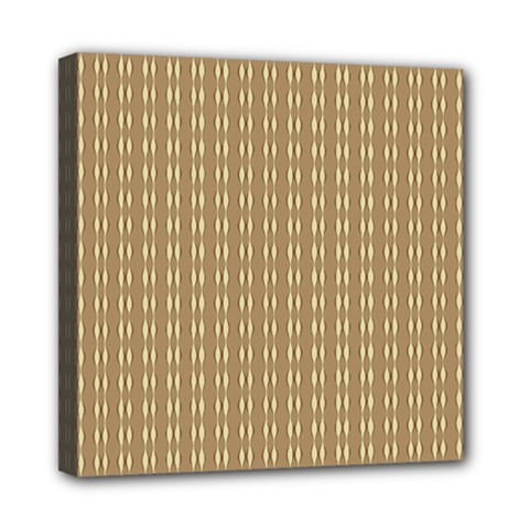 Pattern Background Brown Lines Mini Canvas 8  X 8  by Simbadda
