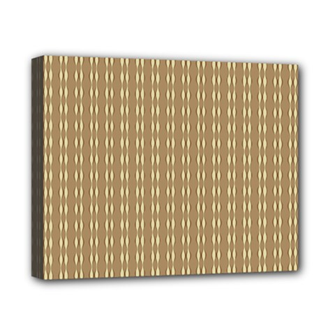 Pattern Background Brown Lines Canvas 10  X 8  by Simbadda