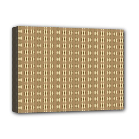 Pattern Background Brown Lines Deluxe Canvas 16  X 12