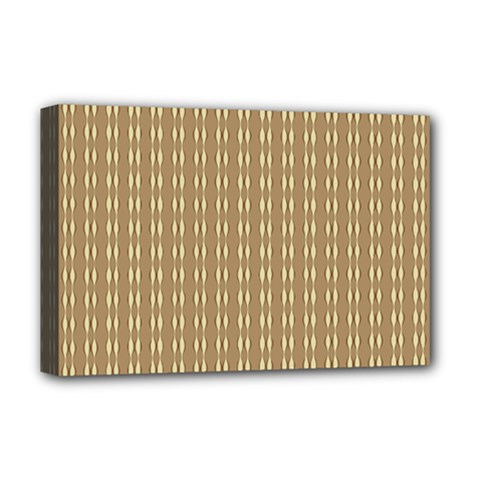 Pattern Background Brown Lines Deluxe Canvas 18  X 12   by Simbadda