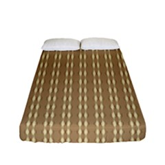 Pattern Background Brown Lines Fitted Sheet (full/ Double Size) by Simbadda