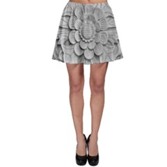 Pattern Motif Decor Skater Skirt by Simbadda