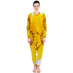 Transparent Flower Summer Yellow Onepiece Jumpsuit (ladies)