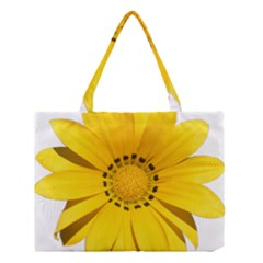Transparent Flower Summer Yellow Medium Tote Bag by Simbadda