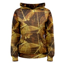 Leaves Autumn Texture Brown Women s Pullover Hoodie by Simbadda