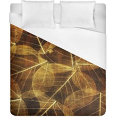 Leaves Autumn Texture Brown Duvet Cover (california King Size) by Simbadda