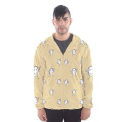 Happy Character Kids Motif Pattern Hooded Wind Breaker (men) by dflcprintsclothing