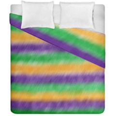 Mardi Gras Strip Tie Die Duvet Cover Double Side (california King Size) by PhotoNOLA