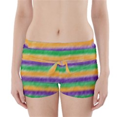 Mardi Gras Strip Tie Die Boyleg Bikini Wrap Bottoms by PhotoNOLA