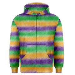 Mardi Gras Strip Tie Die Men s Zipper Hoodie by PhotoNOLA