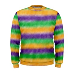 Mardi Gras Strip Tie Die Men s Sweatshirt by PhotoNOLA