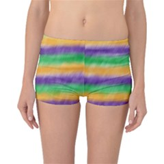 Mardi Gras Strip Tie Die Boyleg Bikini Bottoms by PhotoNOLA