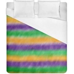 Mardi Gras Strip Tie Die Duvet Cover (california King Size) by PhotoNOLA