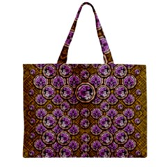 Gold Plates With Magic Flowers Raining Down Zipper Mini Tote Bag by pepitasart