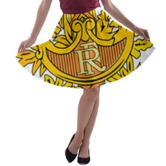 National Emblem Of France  A-line Skater Skirt by abbeyz71