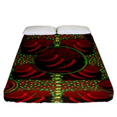 Spanish And Hot Fitted Sheet (king Size) by pepitasart