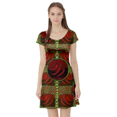 Spanish And Hot Short Sleeve Skater Dress by pepitasart