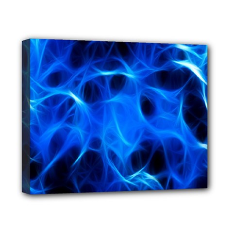 Blue Flame Light Black Canvas 10  X 8  by Alisyart