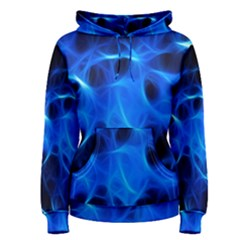 Blue Flame Light Black Women s Pullover Hoodie