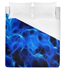 Blue Flame Light Black Duvet Cover (queen Size) by Alisyart