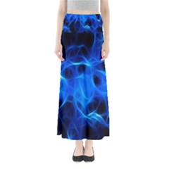 Blue Flame Light Black Maxi Skirts