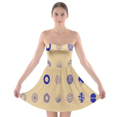 Art Prize Eight Sign Strapless Bra Top Dress