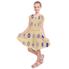 Art Prize Eight Sign Kids  Short Sleeve Dress by Alisyart