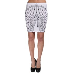 Bird Peacock Fan Animals Bodycon Skirt by Alisyart