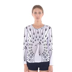Bird Peacock Fan Animals Women s Long Sleeve Tee by Alisyart
