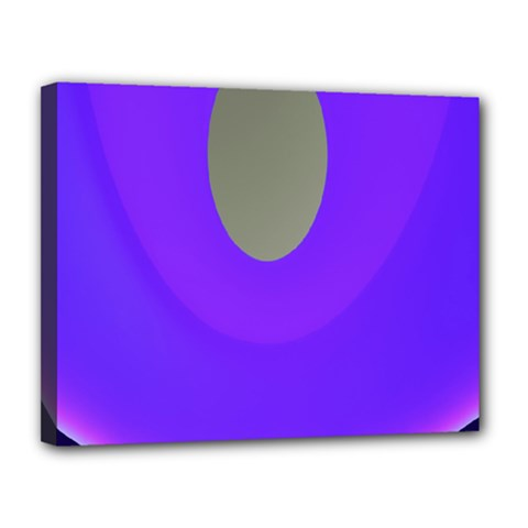 Ceiling Color Magenta Blue Lights Gray Green Purple Oculus Main Moon Light Night Wave Canvas 14  X 11